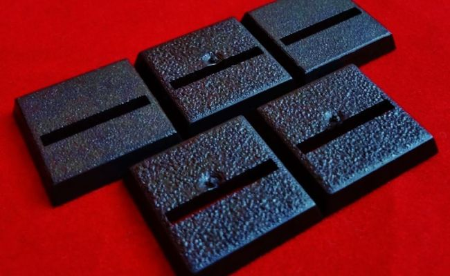 5x 20mm Games Workshop Square Slotta Straight Slotted